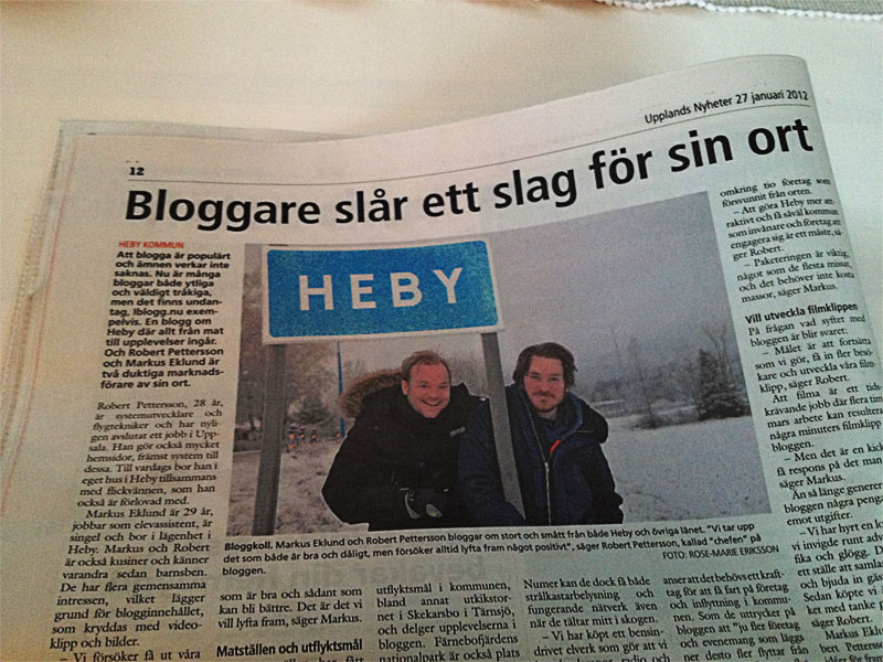 Hebys Blogg i Upplands Nyheter