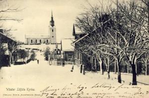 Gammal bild på Heby Kyrka