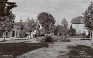 Gammal bild på Heby Torg