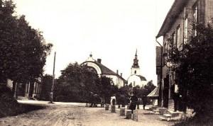 Gammal bild på Heby Centrum