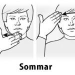 tecken sommar heby iblogg teckenspråk